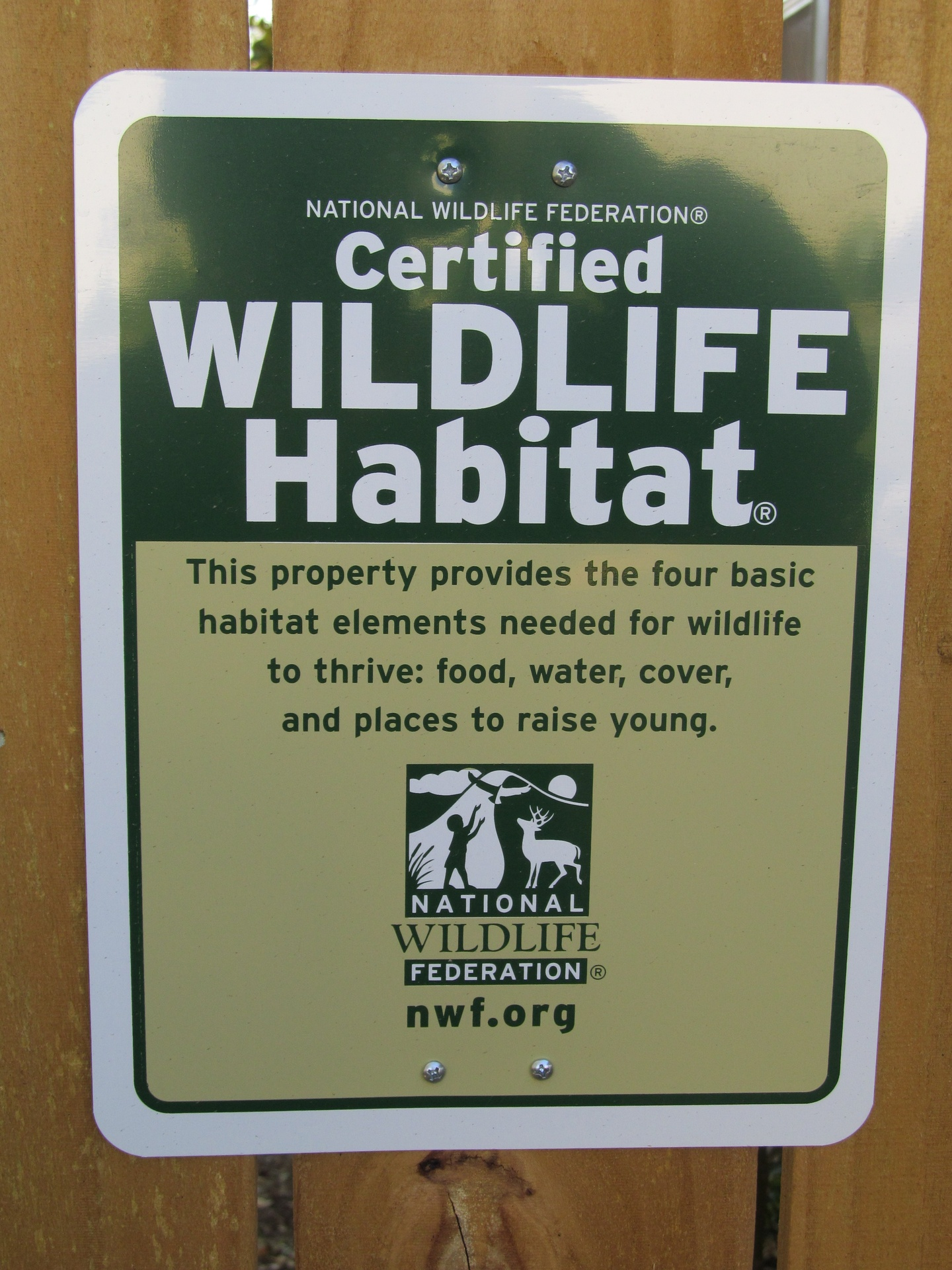 Our NWF Wildlife Habitat Certification